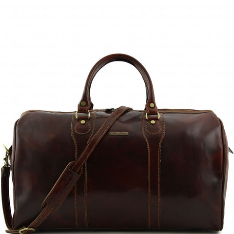 Oslo - Travel leather duffle bag - Weekender bag