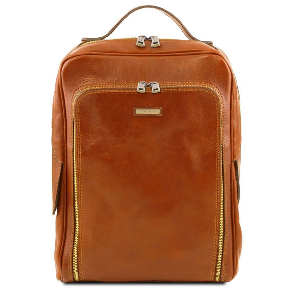 Bangkok - Leather laptop backpack