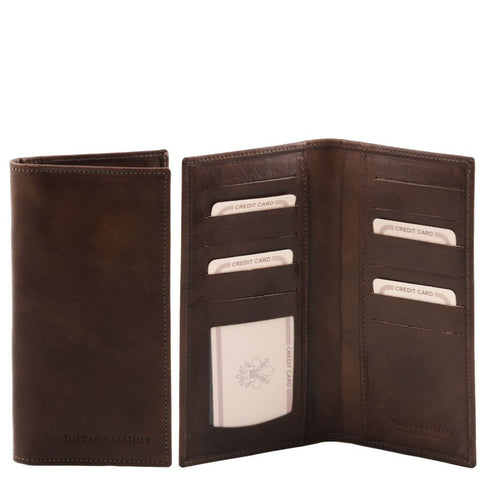 Exclusive leather 2 fold vertical wallet