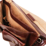Modena - Leather briefcase 2 compartments - Large size