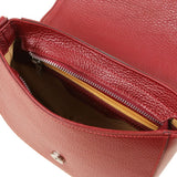 Rosa - Leather clutch with shoulder strap