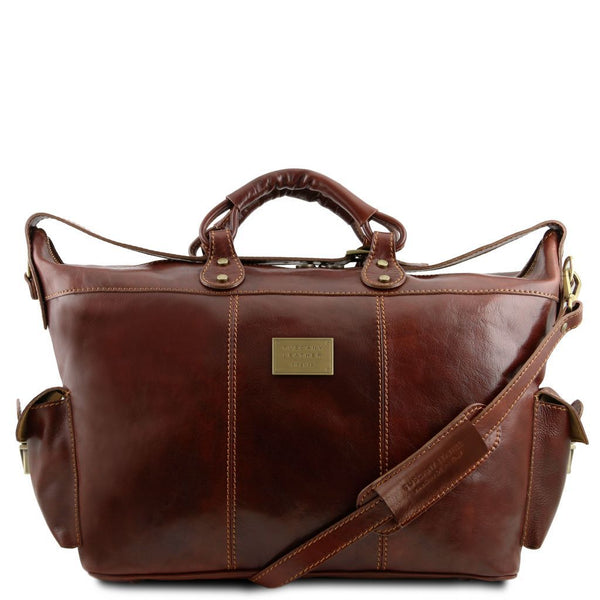 Porto - Travel leather weekender bag