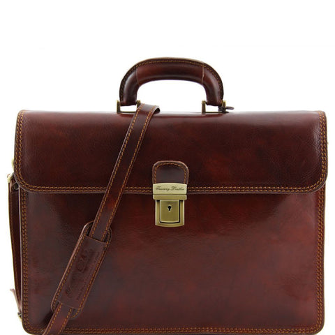 Parma - Leather briefcase 2 compartments