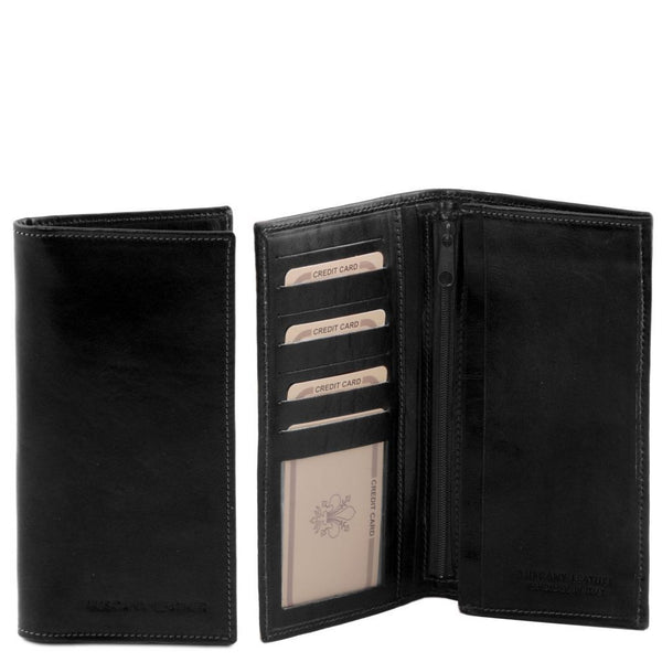 Exclusive vertical 2 fold leather wallet for men