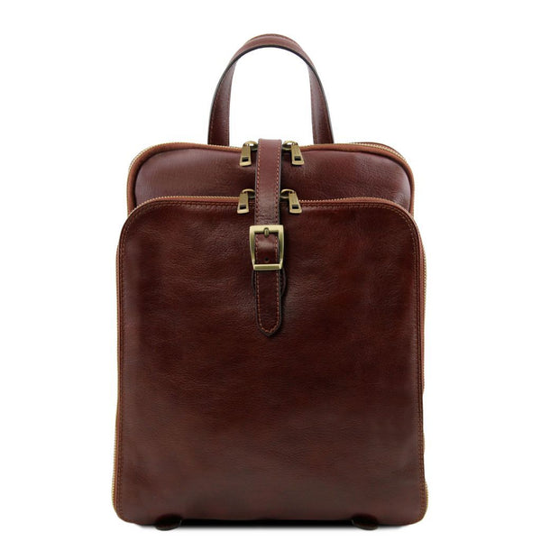 Taipei - 3 Compartments leather backpack