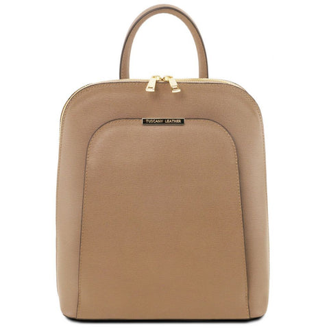 TL Bag - Saffiano leather backpack for women