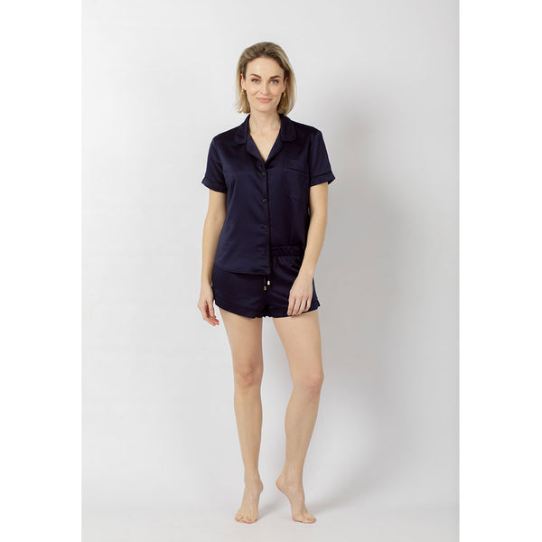 Classic Silky Short Pajama Set | Ink