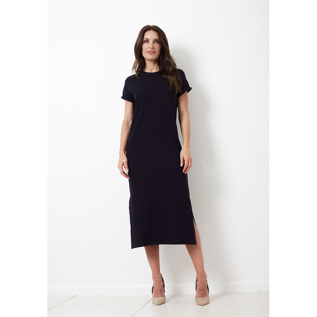 Charlie Dress Long | Navy