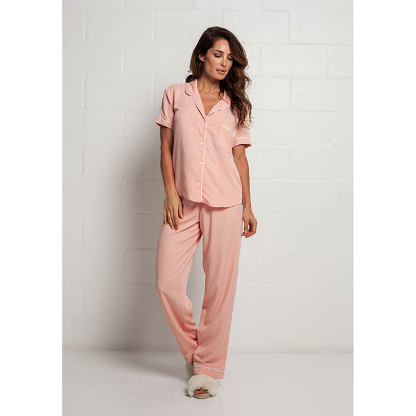 Classic Long Pajama Set | Blush