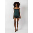 Silky Cami & Shorts Set | Forest
