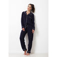 Twill Classic Long Pajama Set | French Navy