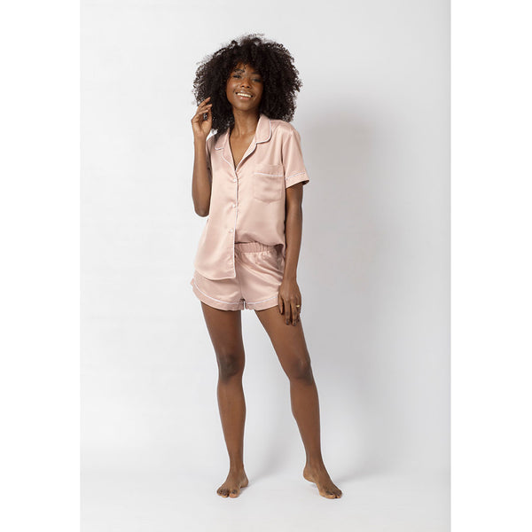 Classic Silky Short Pajama Set | Rosé all Day