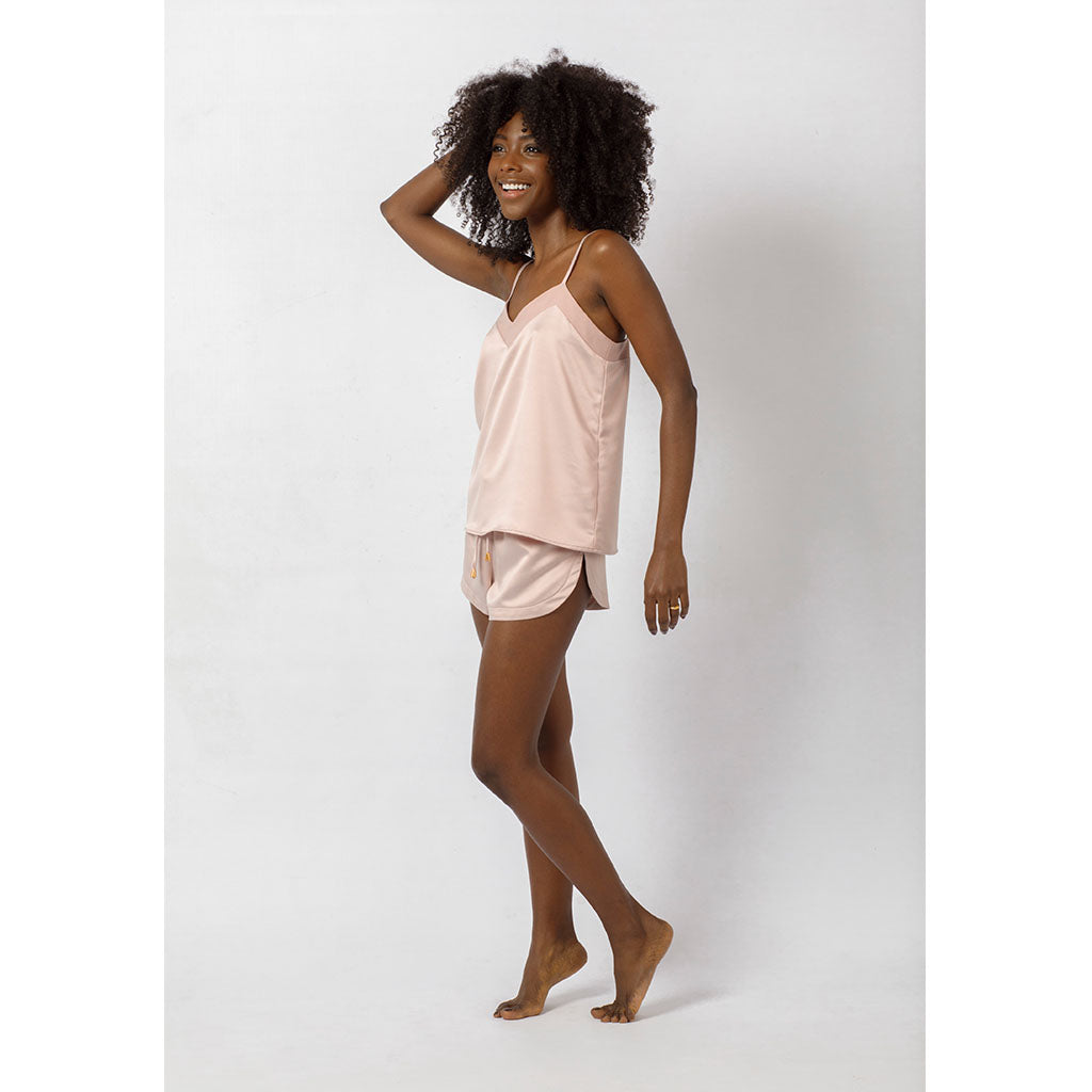 Silky Cami & Shorts Set | Rosé all Day