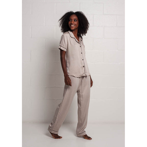 Classic Long Pajama Set | Crema