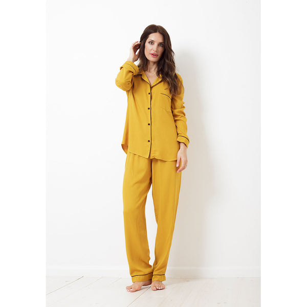 Twill Classic Long Pajama Set | Saffron (Wont be restocked)