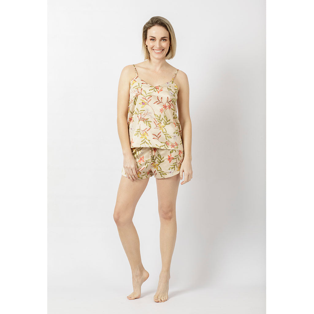 Silky Cami & Shorts Set | Lily Cream