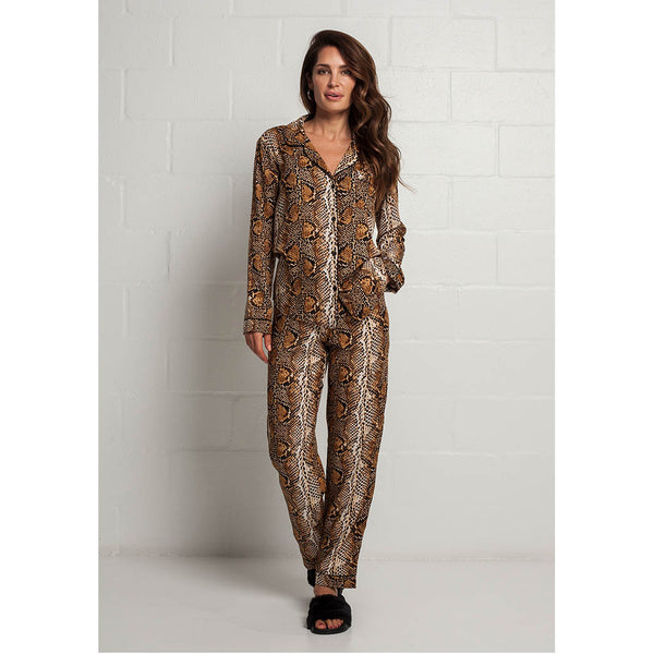 Cotton Classic Long Pajama Set | Python