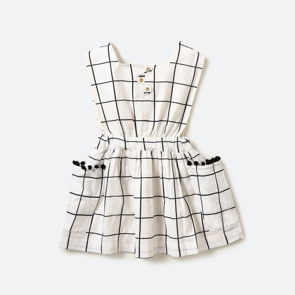 Tic tac toe sleeveless dress - Milk teeth -Kids Dresses, Girls Dress, Girls Skirt, Boys Shirts, Kids Shorts,T-Shirts, Boys Shoes, Girl Sandals,Kids Online Shopping
