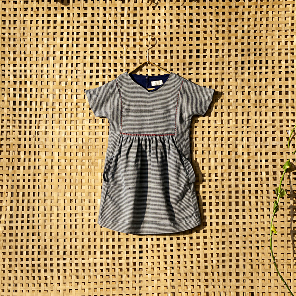 'Dhanush ravi' Pocket dress - Milk teeth -Kids Dresses, Girls Dress, Girls Skirt, Boys Shirts, Kids Shorts,T-Shirts, Boys Shoes, Girl Sandals,Kids Online Shopping
