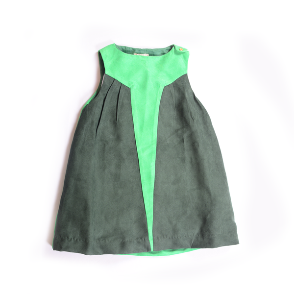 Star Dress (Green) - Milk teeth -Kids Dresses, Girls Dress, Girls Skirt, Boys Shirts, Kids Shorts,T-Shirts, Boys Shoes, Girl Sandals,Kids Online Shopping