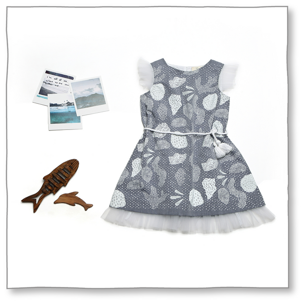 Fossil Dress - Milk teeth -Kids Dresses, Girls Dress, Girls Skirt, Boys Shirts, Kids Shorts,T-Shirts, Boys Shoes, Girl Sandals,Kids Online Shopping