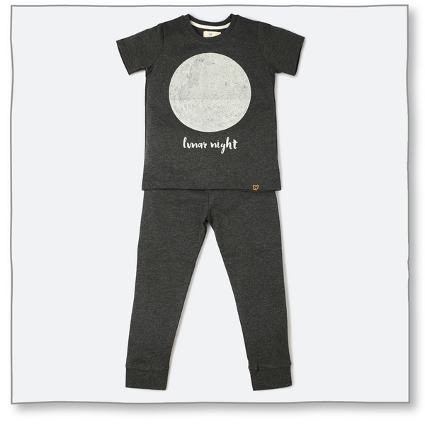 Glow in the Dark Big Moon Night Suit - Milk teeth -Kids Dresses, Girls Dress, Girls Skirt, Boys Shirts, Kids Shorts,T-Shirts, Boys Shoes, Girl Sandals,Kids Online Shopping