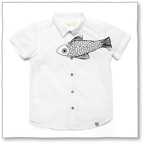Boys Trout Shirt - Milk teeth -Kids Dresses, Girls Dress, Girls Skirt, Boys Shirts, Kids Shorts,T-Shirts, Boys Shoes, Girl Sandals,Kids Online Shopping