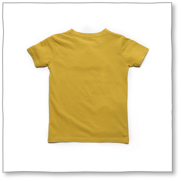 Sea Breeze Tee (Mustard) - Milk teeth -Kids Dresses, Girls Dress, Girls Skirt, Boys Shirts, Kids Shorts,T-Shirts, Boys Shoes, Girl Sandals,Kids Online Shopping