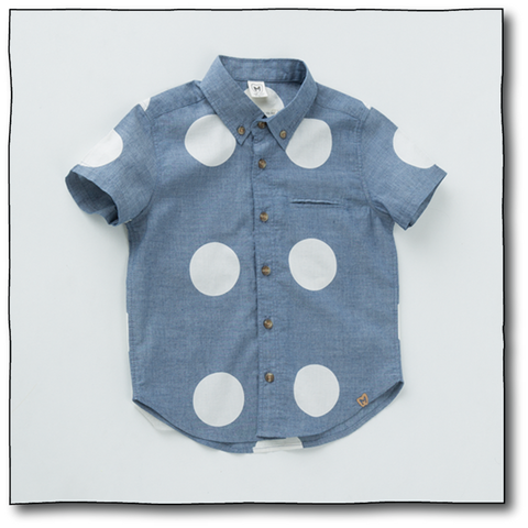 Boys' Big Polka Shirt - Milk teeth -Kids Dresses, Girls Dress, Girls Skirt, Boys Shirts, Kids Shorts,T-Shirts, Boys Shoes, Girl Sandals,Kids Online Shopping
