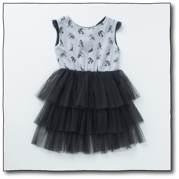 Girls' Animal Acrobat Dress - Milk teeth -Kids Dresses, Girls Dress, Girls Skirt, Boys Shirts, Kids Shorts,T-Shirts, Boys Shoes, Girl Sandals,Kids Online Shopping