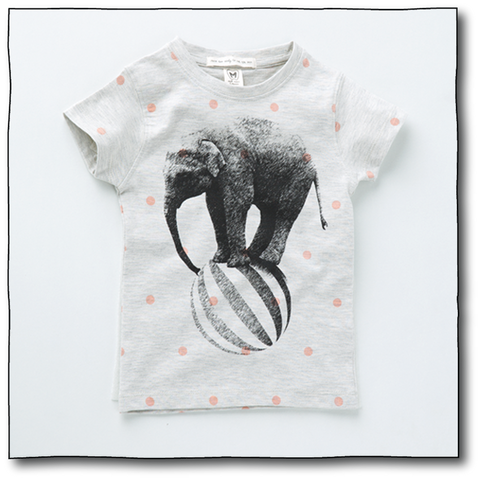Girls' Rolling Elephant Tee - Milk teeth -Kids Dresses, Girls Dress, Girls Skirt, Boys Shirts, Kids Shorts,T-Shirts, Boys Shoes, Girl Sandals,Kids Online Shopping