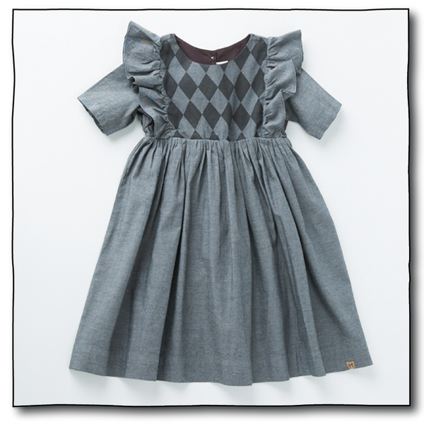 Girls' Harlequin Dress - Milk teeth -Kids Dresses, Girls Dress, Girls Skirt, Boys Shirts, Kids Shorts,T-Shirts, Boys Shoes, Girl Sandals,Kids Online Shopping