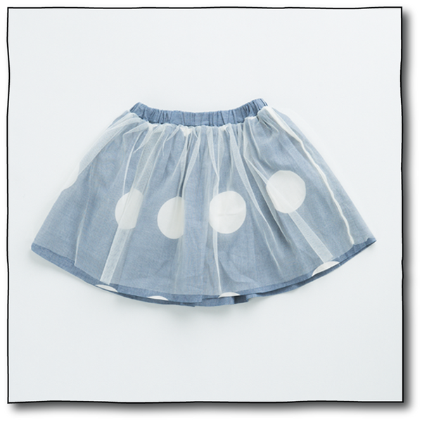 Girls' Big Polka Skirt - Milk teeth -Kids Dresses, Girls Dress, Girls Skirt, Boys Shirts, Kids Shorts,T-Shirts, Boys Shoes, Girl Sandals,Kids Online Shopping