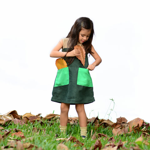 Rubix Dress (Green) - Milk teeth -Kids Dresses, Girls Dress, Girls Skirt, Boys Shirts, Kids Shorts,T-Shirts, Boys Shoes, Girl Sandals,Kids Online Shopping