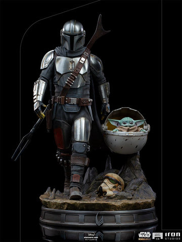 Star Wars Mandalorian : Mandalorian & Child Legacy Replica 1:4 Collectible Statue