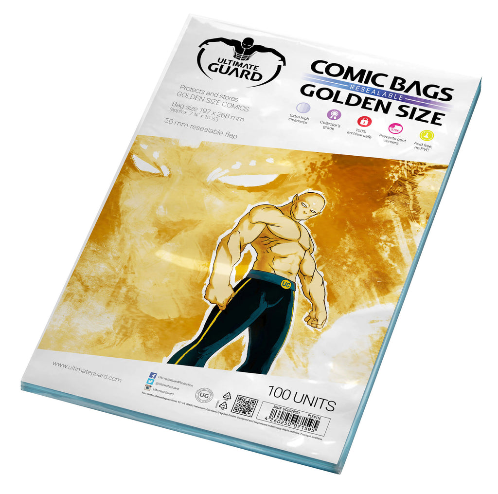 Golden Size Resealable Comic Bags (Pack of 100)