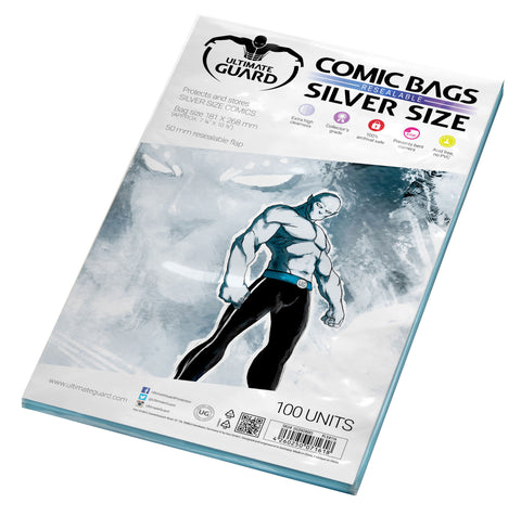 Silver Size Resealable Comic Bags (Pack of 100)