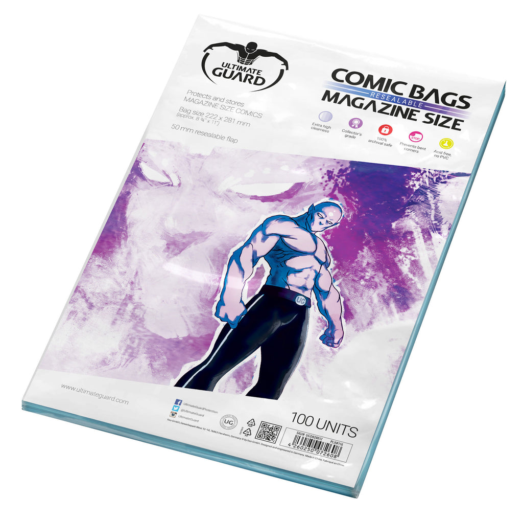 Magazine Size Resealable Comic Bags (Pack of 100)