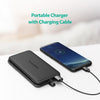 RAVPower 5000mAh Bulit-in Lightning Cable Battery Power Bank Portable Charger
