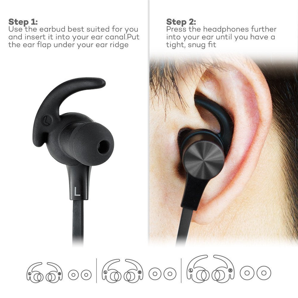 taotronics tt bh07 wireless bluetooth earphone. Black Bedroom Furniture Sets. Home Design Ideas