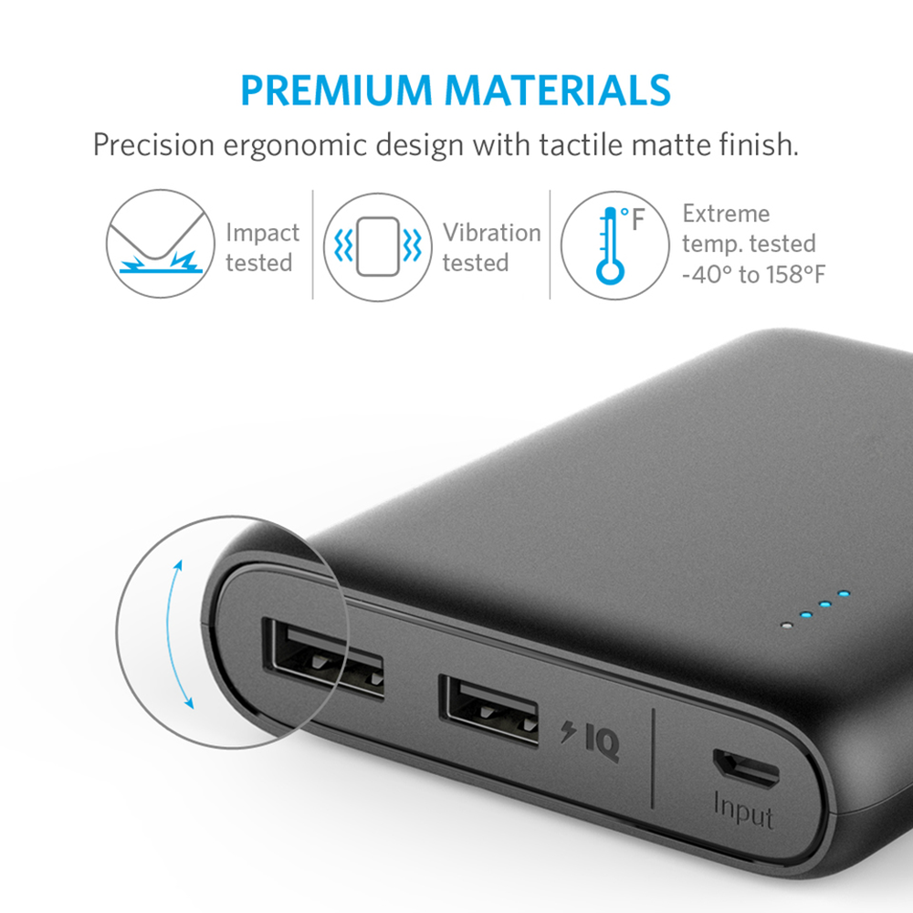 Anker Powercore 13000mah 3a 2 Port Usb External Battery