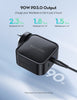RAVPower 90W/87W/65W/60W/45W 2 USB C PD 3.0 Ports GaN Wall Charger Power Adapter