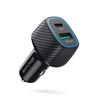 RAVPower 48W 2-Port USB-C PD Car Charger 30W Power Delivery QC3.0 USB Adapter