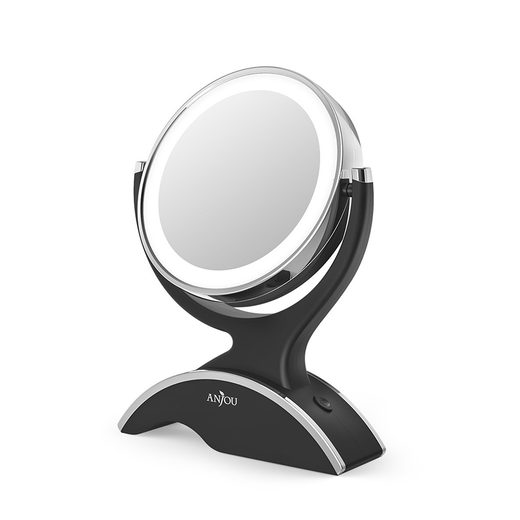 Anjou Makeup Mirror LED Lighted with 1X / 7X Magnification Vanity Double Side