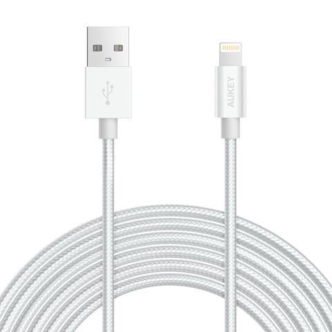Aukey Lightning USB Nylon Braided Cable (2m/6.6ft)