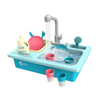 CUTE STONE Color Changing Kitchen Sink Toys Electric Dishwasher Playing Toy Kids