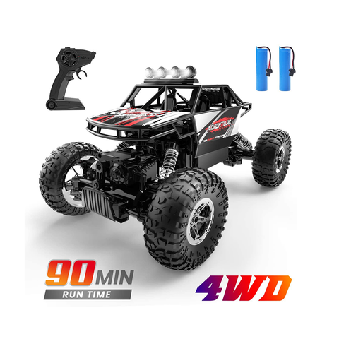 DEERC DE45 RC Car Remote Control 1:16 Scale 4WD Off Road Monster Truck 2 Battery