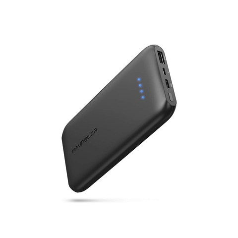 RAVPower 10000mAh 5V 3A USB-C Port Ultra Slim Power Bank