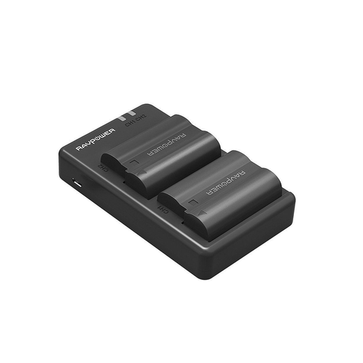 RAVPower EN-EL15 Camera Batteries Charger Set for Nikon 2100mAh 2-Pack Battery