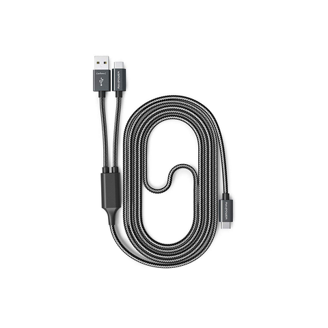 RAVPower 2-in-1 USB C to USB A/USB C Cable 3.3ft 1m